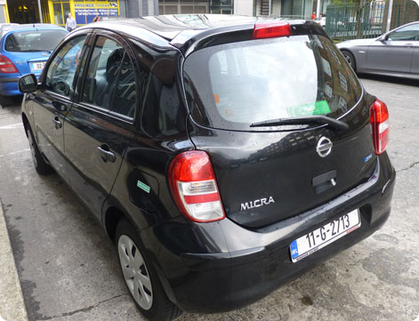 Nissan Micra as a rental car