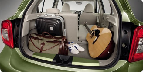 Nissan Micra luggage space