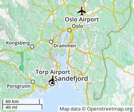 Oslo lufthavne billeje priser - Norge billigste leje af bil Gardermoen Lufthavn - Sandefjord ...