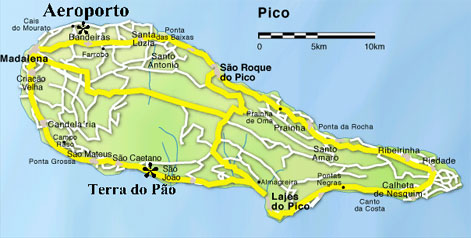Billeje Pico Lufthavn Azorerne Biludlejning Cartrawler