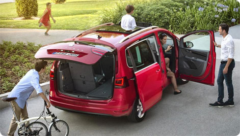 Seat Alhambra - Family car rental 7 persons