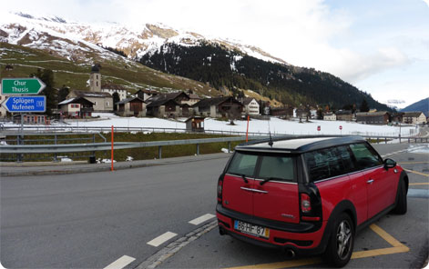 Car rental Switzerland - driving in the Alps