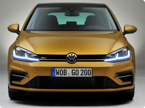 VW Golf 2017 facelift