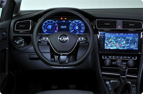 VW Golf 2017 instrumentpanel