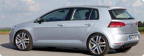 Rental car Stansted Airport - VW Golf